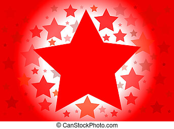 Vector background with red stars
