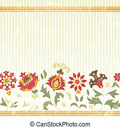 Vector background with retro flowers
