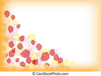 Vector background with roses