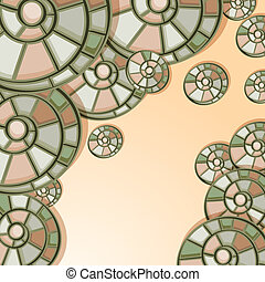 vector background with snail shells, eps10, clipping mask, place for your text