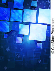 background with snowflakes and geometric figures