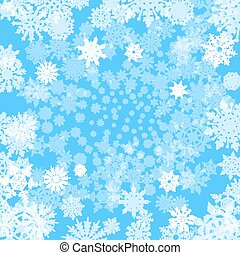 Vector background with snowflakes blue
