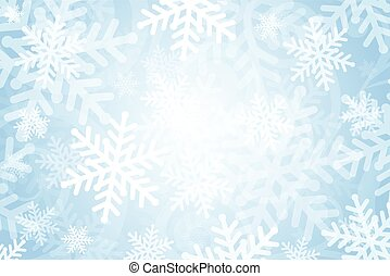 Vector background with snowflakes