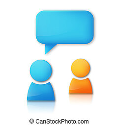 Vector background with speaking people