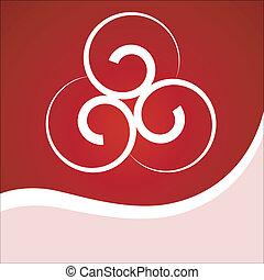 Vector  background with spirals