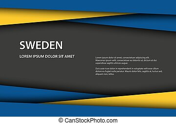 Vector background with Swedish colors and free grey space for your text, Swedish flag, Made in Sweden, Swedish icon and symbol