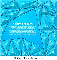 Vector background with triangles. Blue