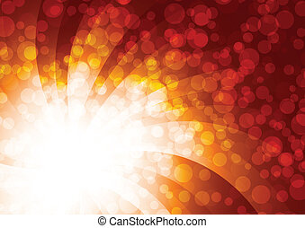 Vector background with unfocus light