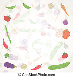 Vector Background with Vegetables