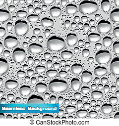 Vector Background with Water Drops