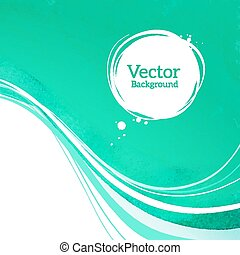 Vector background with waves.