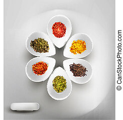 white bowl - vector background with white bowl on the table,...