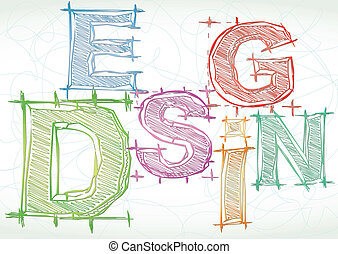 Vector background with word design