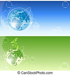 vector backgrounds with globe