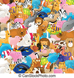 Vector Backgrounf with Animals