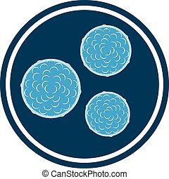 vector bacteria blue icon