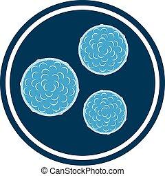 vector bacteria blue icon