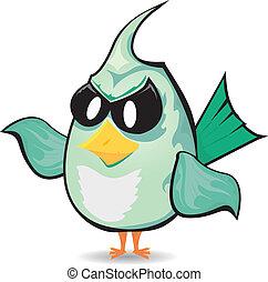 vector bad bird. funny bird character
