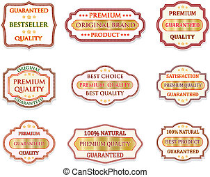 Vector badge design set