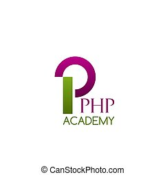 Vector badge for PHP academy - PHP academy vector icon...
