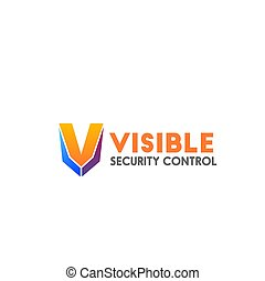 Vector badge for security control business