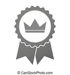 Vector badge icon with a crown