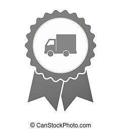 Vector badge icon with a  delivery truck