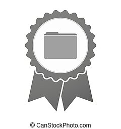 Vector badge icon with a folder