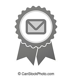 Vector badge icon with an envelope