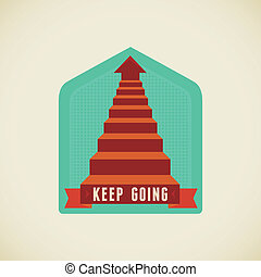 Keep going - Vector badge in flat style - Keep going