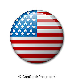 Vector badge with american flag