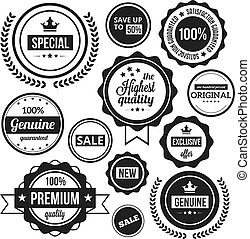 Vector Badges and Stickers Stamps