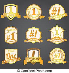 Vector badges certificates Number 1