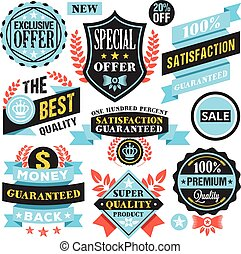 Vector badges, labels, stickers set