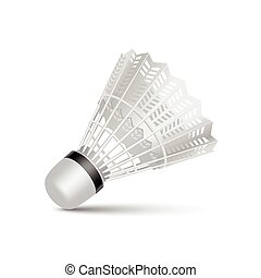 Vector Badminton Shuttlecock Isolated on White Background