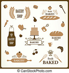 Vector Bakery Design Elements