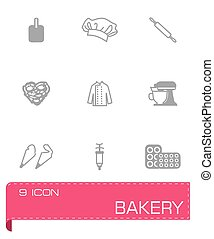 Vector Bakery icon set