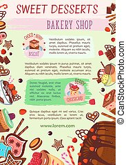 Vector bakery shop poster