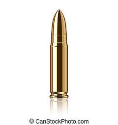 vector, bala, ilustración, rifle