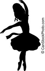 Vector Ballerina Silhouette