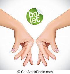 Vector Ballet Hands