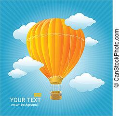 vector, ballons, achtergrond, lucht