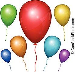 Vector Balloon. Color set. - Set of shiny vector balloons...
