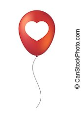 Vector balloon icon with a heart