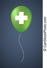 Vector balloon icon with a pharmacy sign