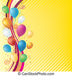 vector balloons, celebration background
