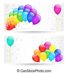 Vector balloons.