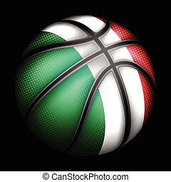vector, baloncesto, italiano