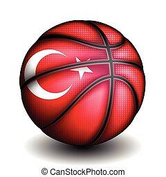 vector, baloncesto, turco