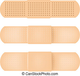 Vector-Band-aid - 100% Adobe Illustrator photo realistic...